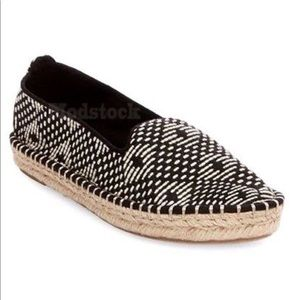 Dolce VIta Black & White Woven Espadrille Flats